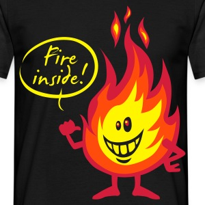 Fire inside - Mannen T-shirt