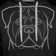 ~ Uomo - Logo grigio + Manica dx (bullmastiff KIDS)