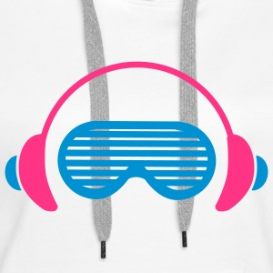 Shutter Shades and Headphones Pullover - Frauen Premium Hoodie