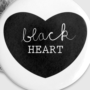 black heart Buttons - Buttons small 25 mm