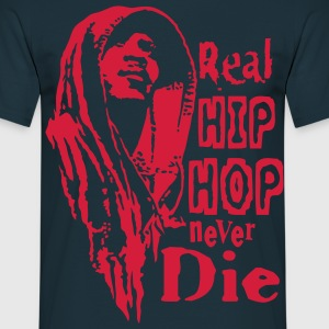Real hip hop red - Männer T-Shirt