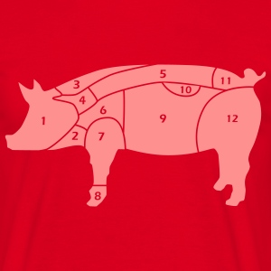 cuts of pork T-shirt - Maglietta da uomo