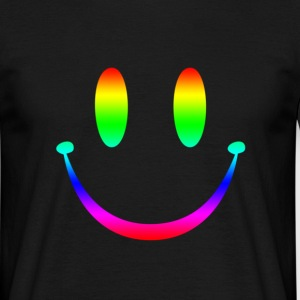 Rainbow Smiley 3 T-Shirts - Männer T-Shirt