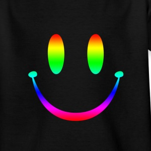 Rainbow Smiley 3 Barn-T-shirts - T-shirt tonåring