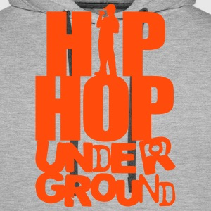 Hip Hop underground orange - Sweat-shirt à capuche Premium pour hommes