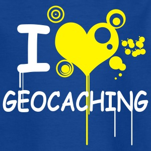 I love geocaching / 2 colors T-shirts - T-shirt tonåring