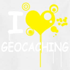 I love geocaching - 2colors - Teenager T-shirt