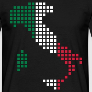 Black Italy T-Shirts - Men's T-Shirt