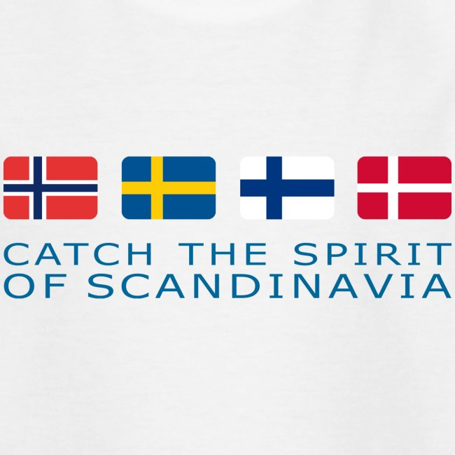 Teenager T-Shirt CATCH THE SPIRIT OF SCANDINAVIA blue-lettered