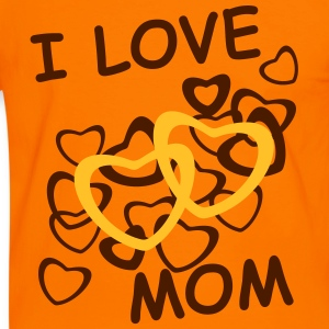I love mom, orange - Men's Ringer Shirt