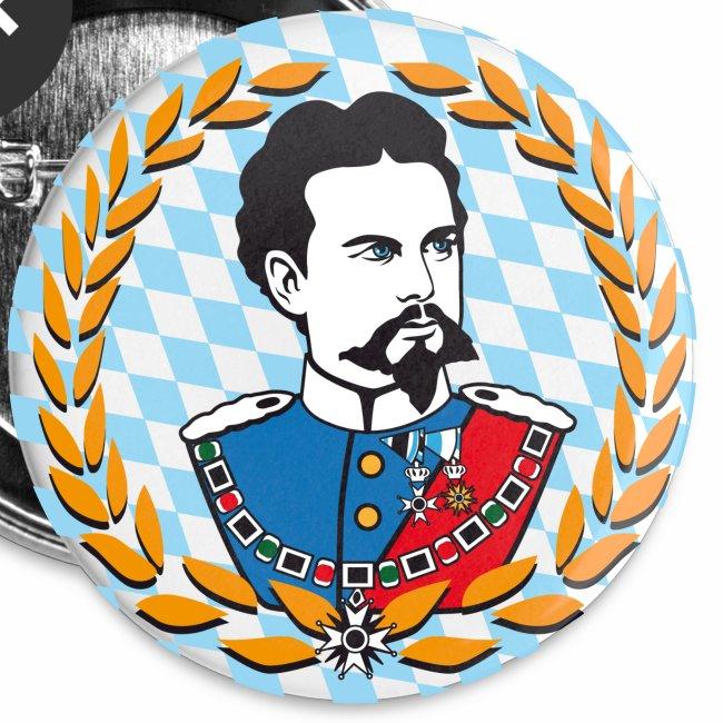 König Ludwig der II. Portrait - Button Anstecker