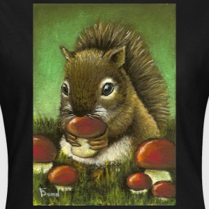 Baby squirrel and mushrooms - Frauen T-Shirt