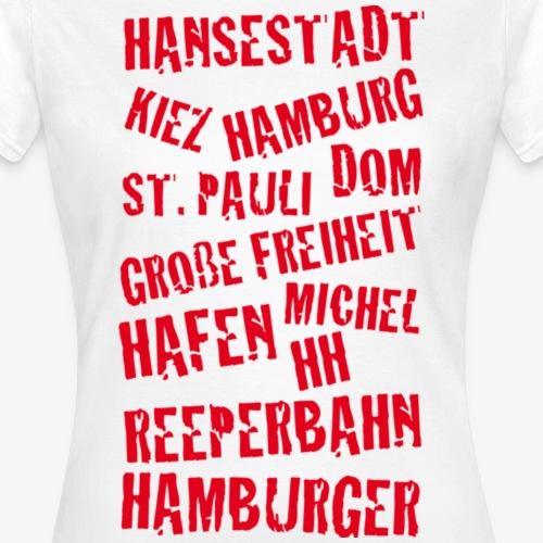 Hamburger Begriffe rot