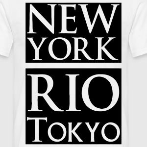 New York, Rio, Tokyo Tee shirts - T-shirt Homme