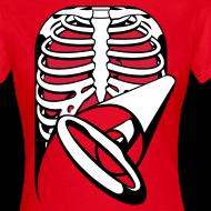 Design ~ Skeleton Key, bones, chest t-shirt, ribs