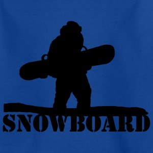 Snowboarder Winter Sport Motif 2  Kids' Shirts - Teenage T-shirt