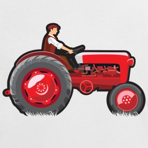 Red Shiny Tractor - Women's Ringer T-Shirt