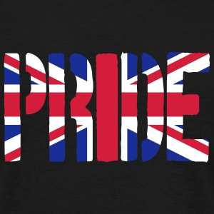 PRIDE Britain Flag, British Flag, Union Jack, UK F - Men's T-Shirt