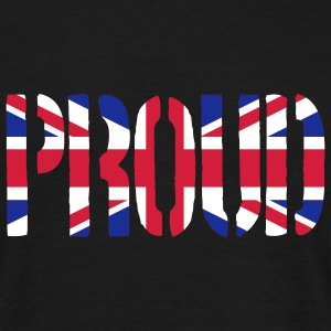PROUD Britain Flag, British Flag, Union Jack, UK F - Men's T-Shirt