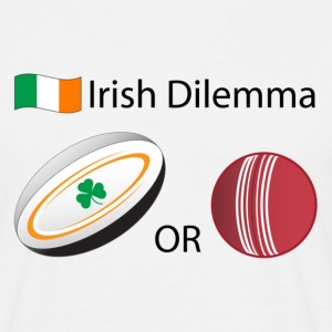 Irish Dilemma: Rugby or Cricket? - Men's Classic T-Shirt - Men's T-Shirt
