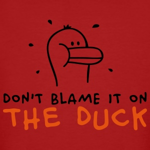 Don't blame it on the Duck T-shirts - Ekologisk T-shirt herr