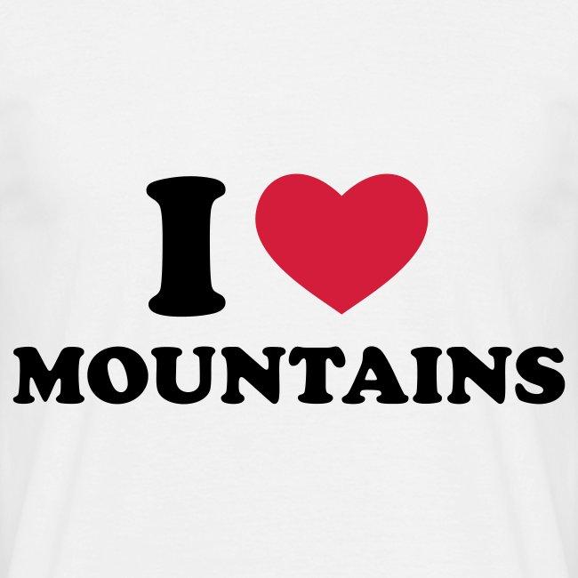I love mountains tee