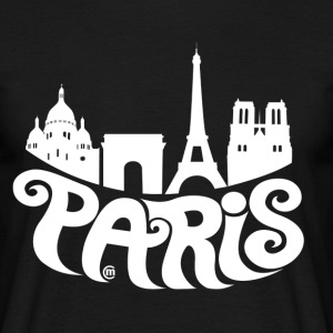 Black Paris T-Shirts - Men's T-Shirt