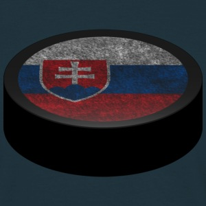Hockey Puck (Slovakia) Men's T-shirts - T-shirt herr