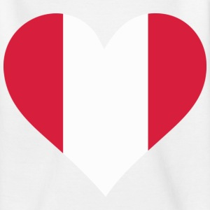 Heart Peru (dd) Kids' Shirts - Teenage T-shirt