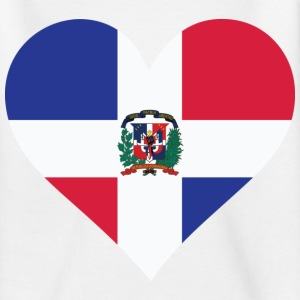 Heart Dominican Republic (dd) Kinder shirts - Teenager T-shirt