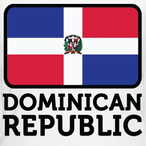 Flag Dominican Republic 2 (dd) T-shirts - Organic damer