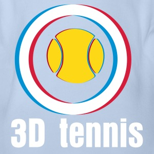 YOUNGEST CHAMPION OF TENNIS IN 3D - Body bébé bio manches courtes
