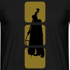 Bass shows you double bassist, musician, musical instruments bass motif Bank.  T-Shirts