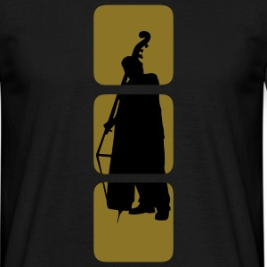 Bass shows you double bassist, musician, musical instruments bass motif Bank.  T-Shirts - Men's T-Shirt