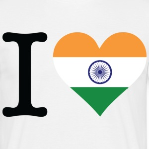 I Love India (dd) T-Shirts - Men's T-Shirt