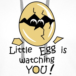 Little Egg is watching you! Pullover - Felpa con cappuccio premium da uomo