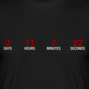 Countdown T-shirts - Mannen T-shirt