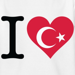 I Love Turkey (dd) Kinder T-Shirts - Teenager T-Shirt