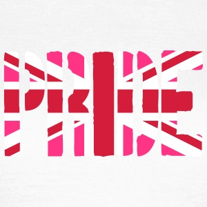 Gay Pride Great Britain flag, Pink britisk Flag, P - Dame-T-shirt