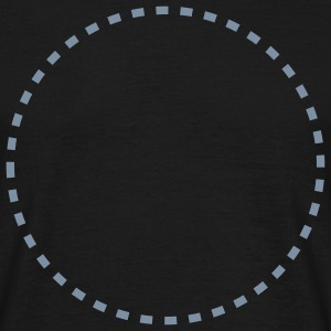 dashed_circle_1c T-Shirts - Männer T-Shirt