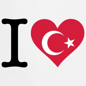 I Love Turkey (3c)  Aprons - Cooking Apron