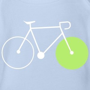 bike singlespeed fixie bicycle Shirts - Organic Short-sleeved Baby Bodysuit
