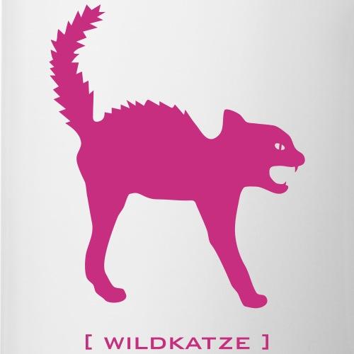 Katze Wildkatze Buckel fauchend