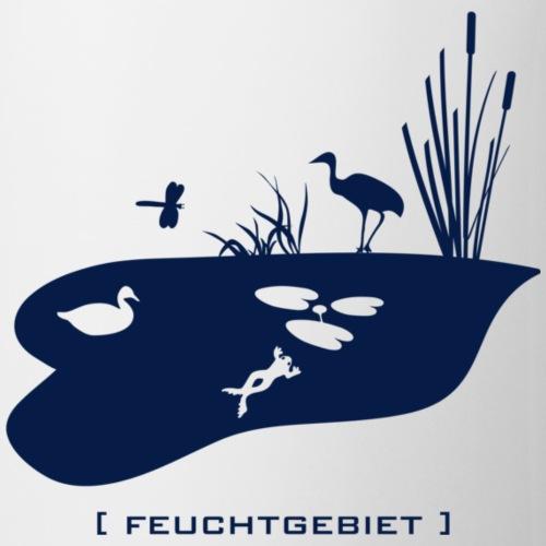 Feuchtgebiet Frosch Tümpel See Weiher Vogel blau