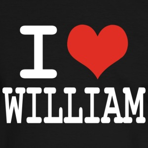 I love William T-shirts - T-shirt contraste Homme