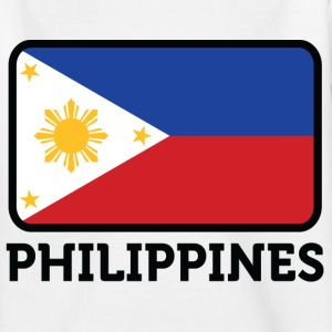 Flag Philippines 2 (dd) Barn-T-shirts - T-shirt tonåring