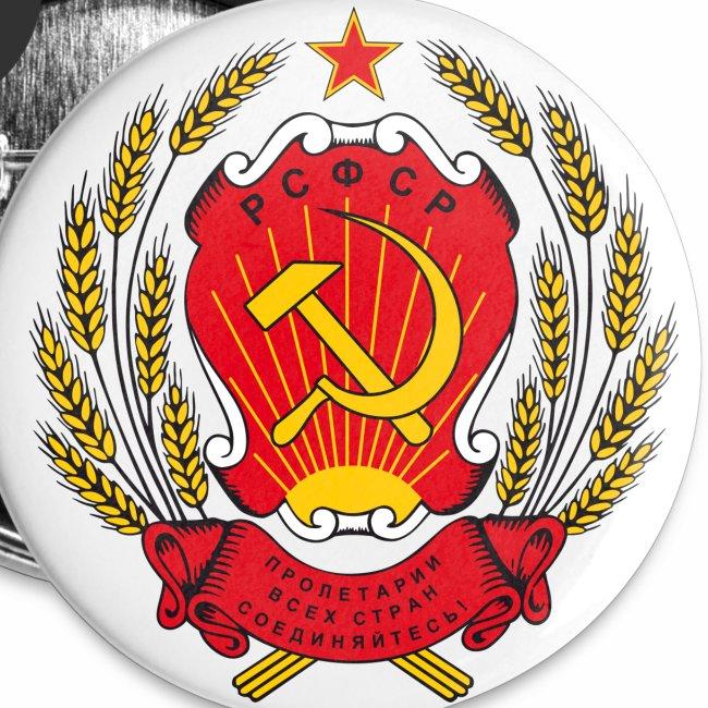 Wappen Sowjetunion Gerb RSFSR Герб РСФСР Button Anstecker