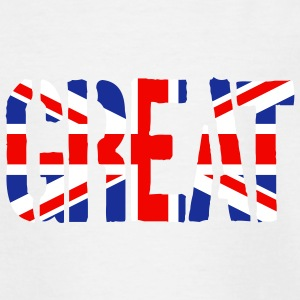 Great Britain flag, brittiska flaggan, Union Jack, - T-shirt tonåring