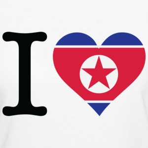 I Love Northkorea (dd) T-Shirts - Frauen Bio-T-Shirt