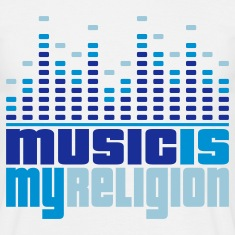 Music Is My Religion Men's T-shirts